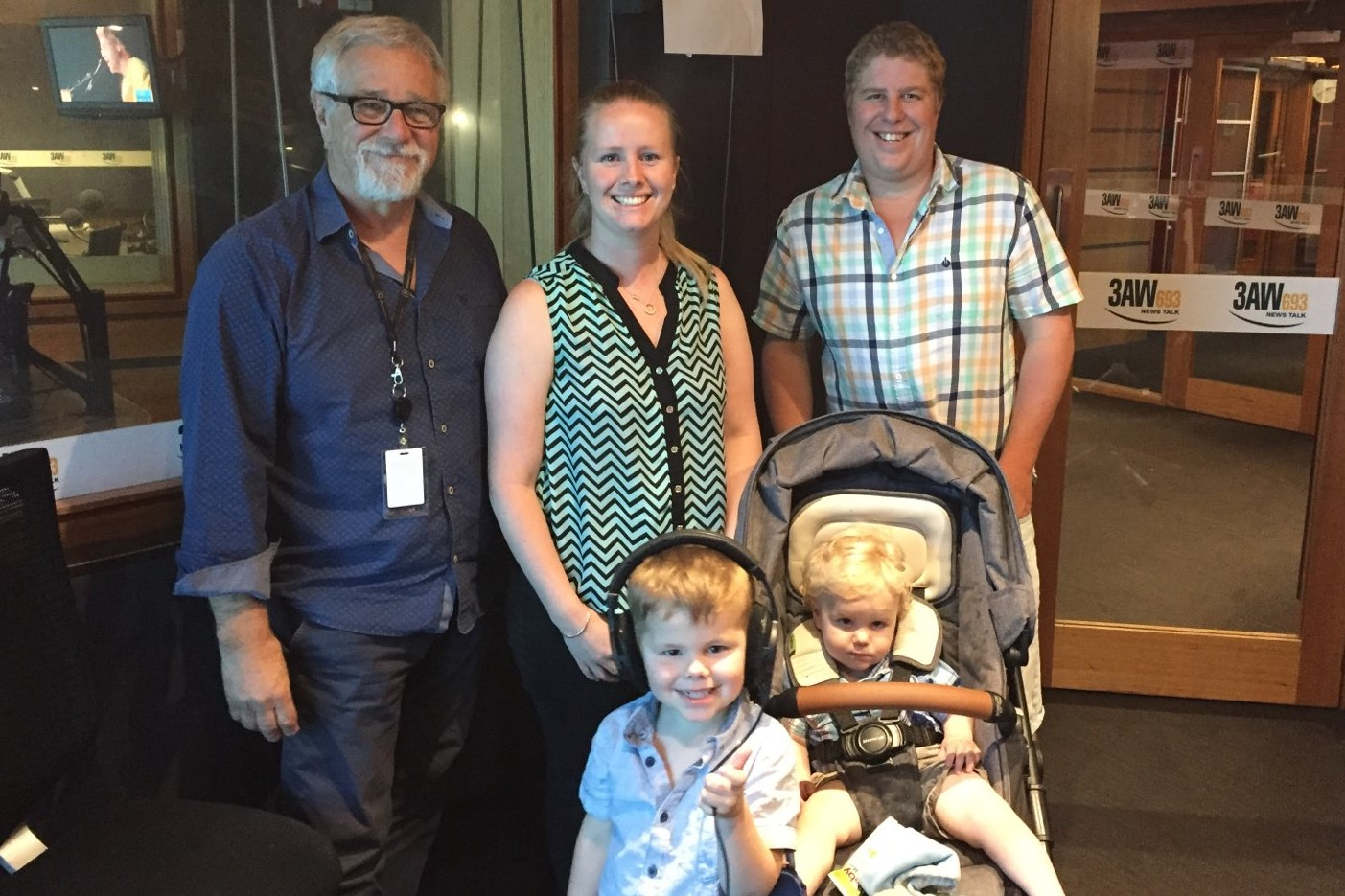 Article image for Triple zero hero: Couple thank phone operator who helped deliver their baby