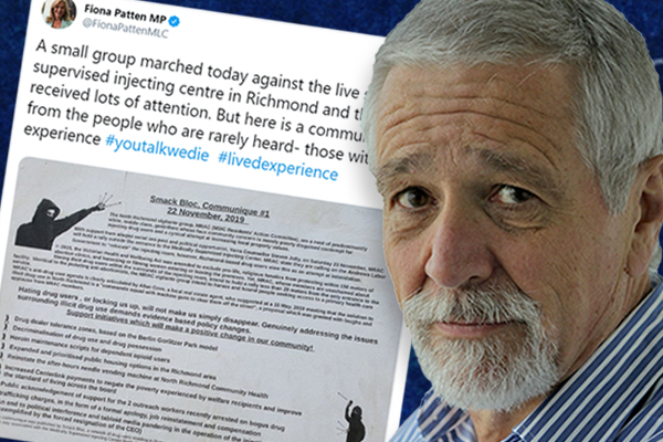 Article image for Neil Mitchell slams Fiona Patten for sharing 'offensive nonsense' message from safe injecting room supporters