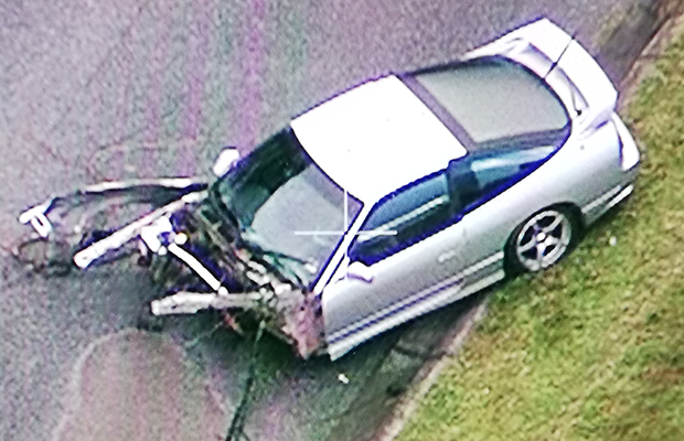 Article image for Shocking sports car smash: Car torn apart on the Princes Highway