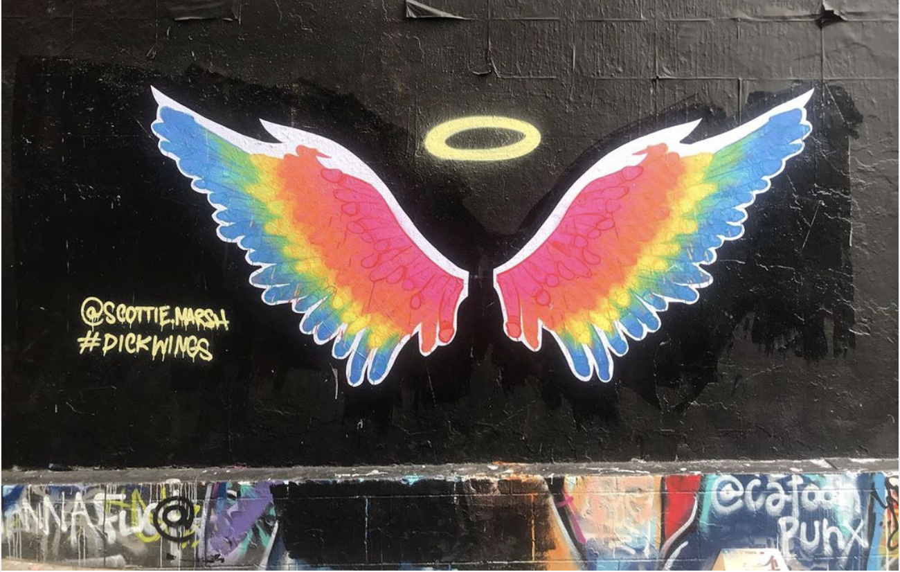 The slightly subtle secret to this street art that's catching plenty of people unawares!