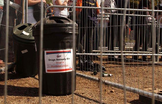 Article image for Questions over effectiveness of drug amnesty bins at music festivals