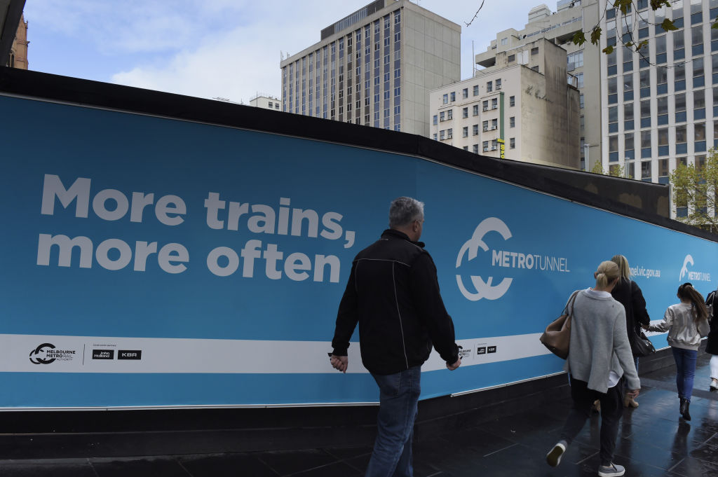 Article image for Metro Tunnel work grinds to a halt as dispute over cost blowout escalates