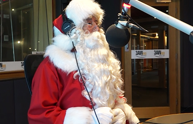 Article image for Santa takes calls from kids in studio!