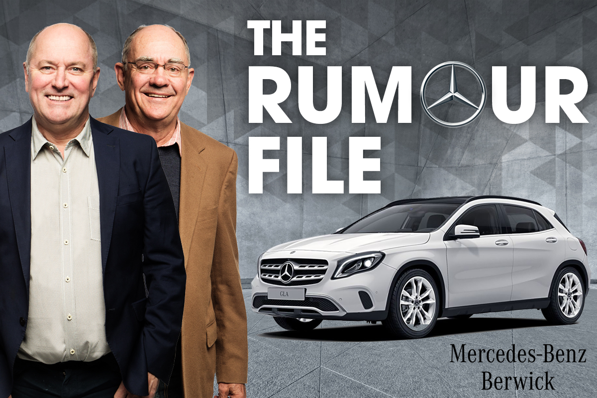 The Rumour File thanks to Craig Howard and the team at Mercedes‑Benz Berwick