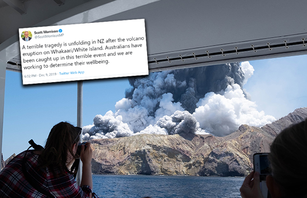 Article image for White Island volcano: Six people confirmed dead, fears for many Australians