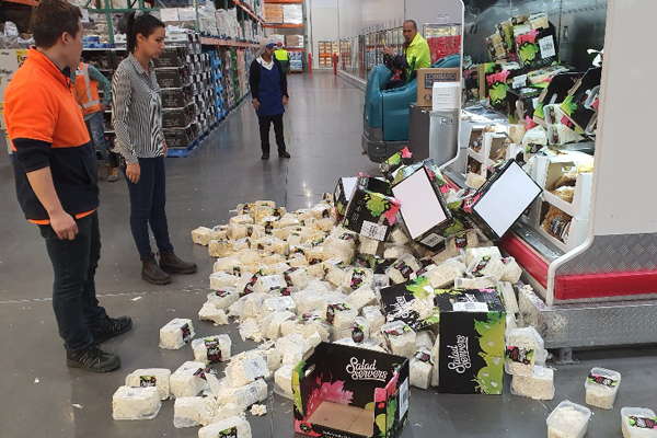 Christmas Eve shoppers 'stunned' as supermarket display collapses