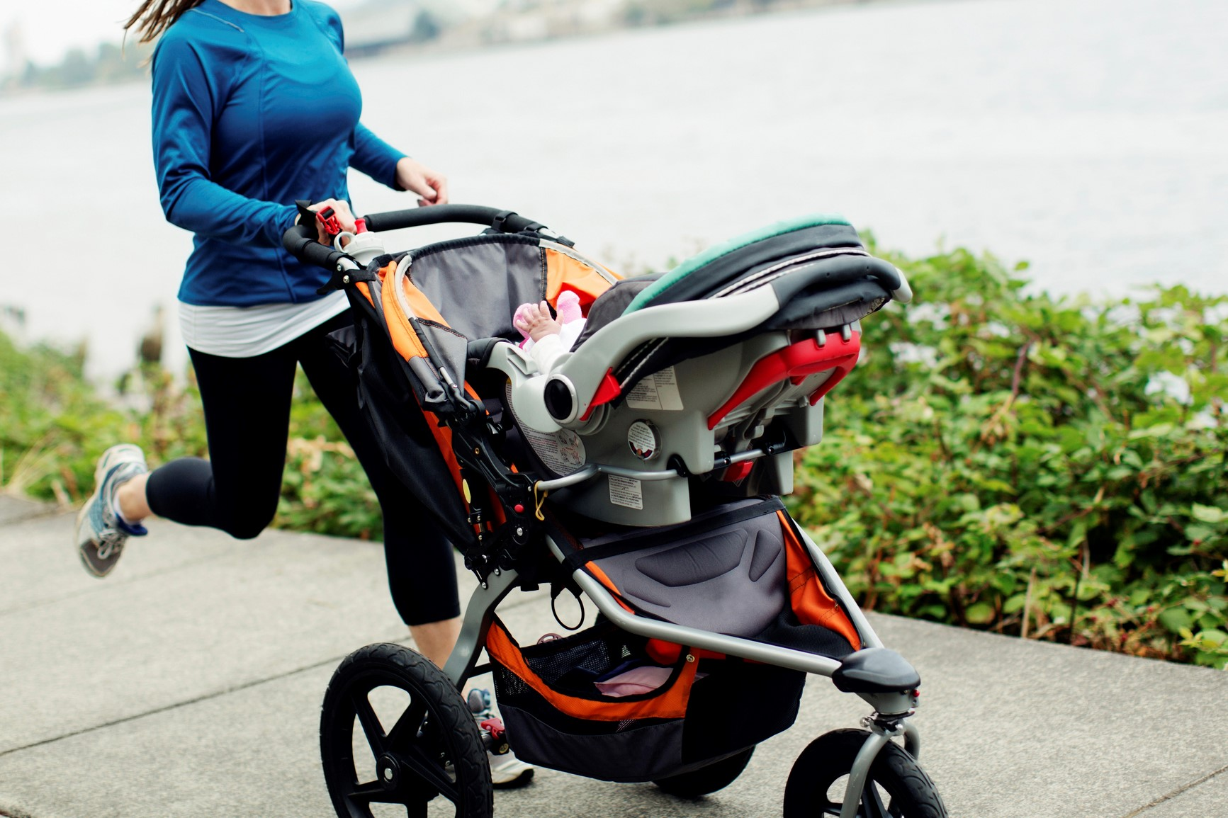 Article image for Pram warning: Parents who exercise with prams could be hindering their child's development