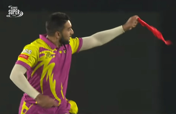 Article image for Cricketer pulls magic trick after taking wicket