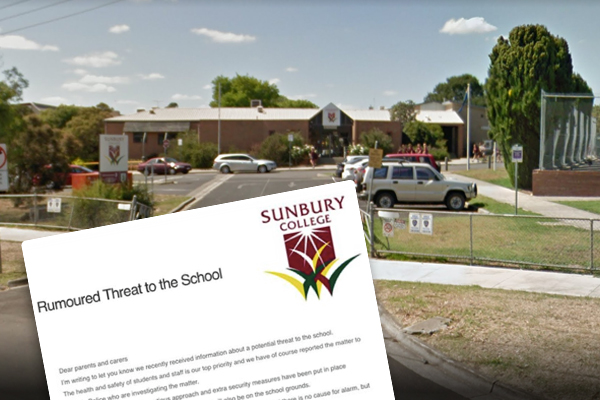 Article image for 'Is it safe to send your child to school?': Teen arrested after threats made against Sunbury school