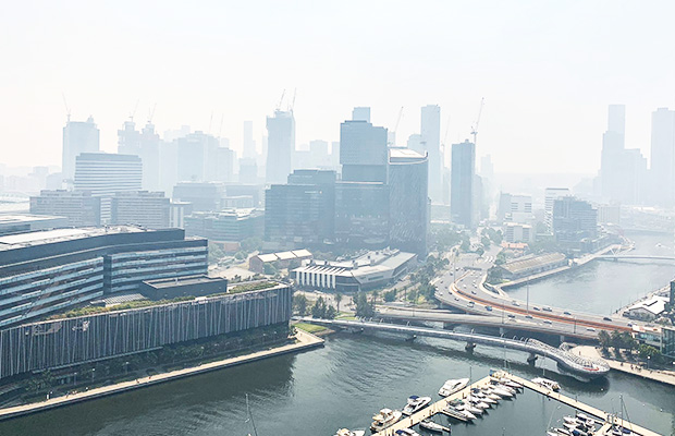 Article image for Why a smoky haze has drifted over Melbourne