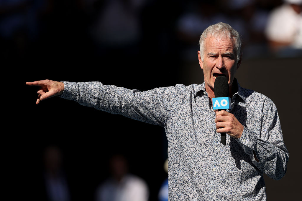 Article image for 'Like Margaret Court, he was just expressing his views': John McEnroe's rant tolerated by fellow commentator