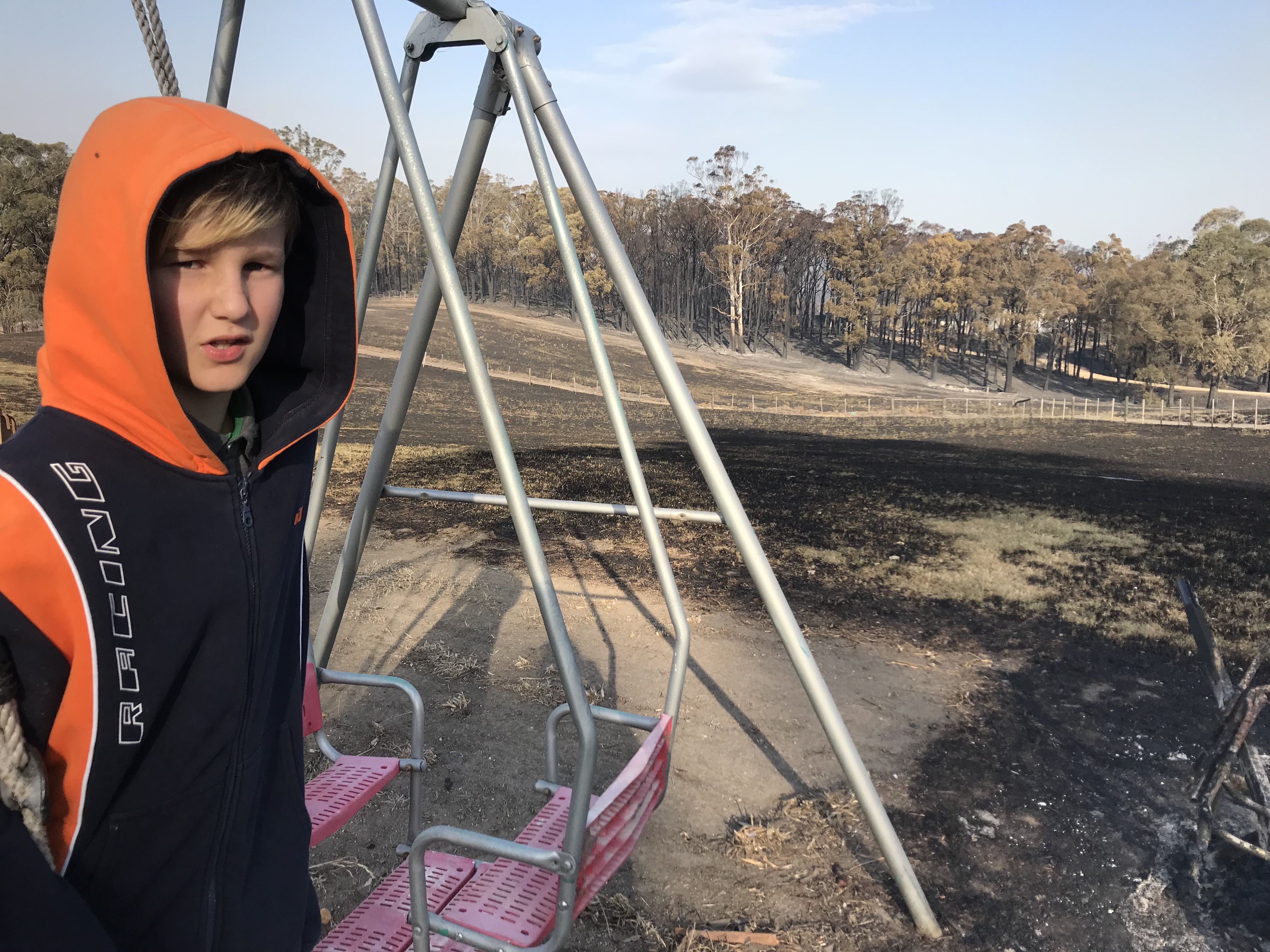 Article image for Clifton Creek boy loses both his home and school in bushfire inferno