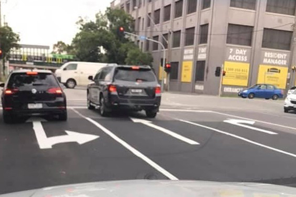 Article image for Baffling arrow signage blunder causes confusion at busy Melbourne intersection