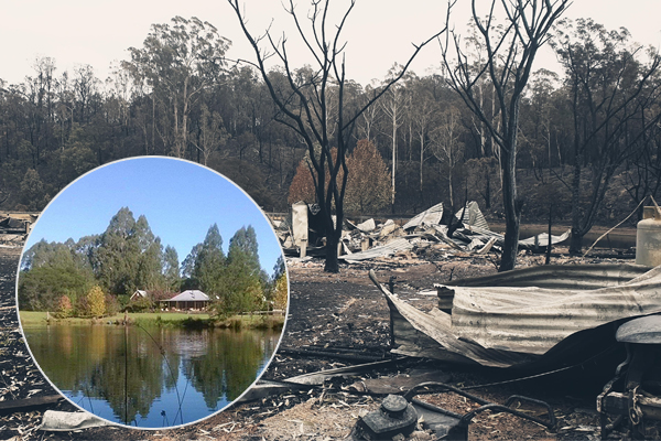 Article image for 'Incredibly humbled': Woman who lost everything in bushfire shares tearful thank-you