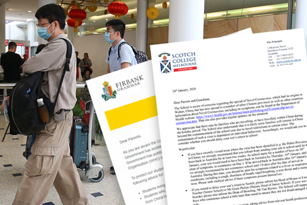 Article image for Coronavirus fears: Melbourne schools call for students who have recently visited China to stay at home