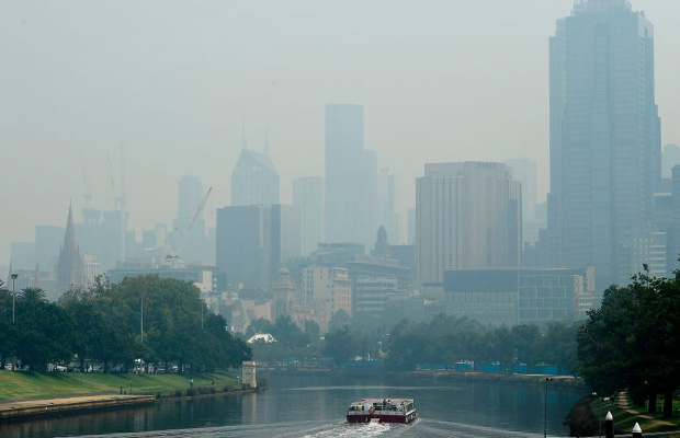 Article image for State of haze: Smoke lingers, Victorian town ranked among world's most polluted