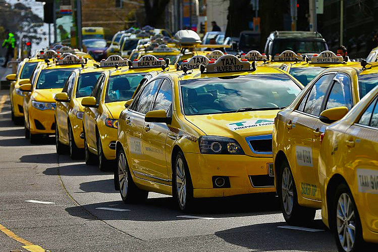 Article image for Vandal slashes tyres on 27 taxis in destructive rampage at Melbourne depot