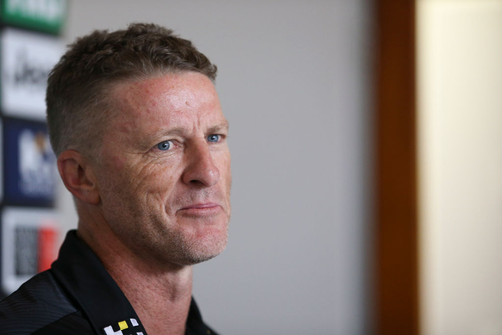 Article image for Why Damien Hardwick has been 'avoiding' Dion Prestia this week