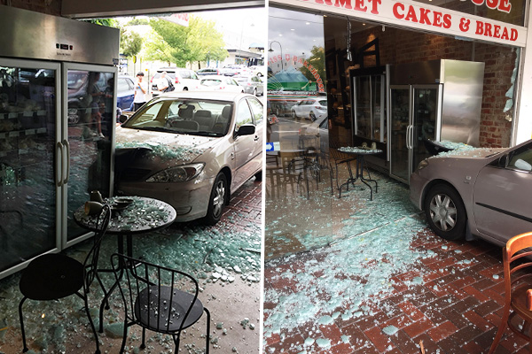 Article image for Car smashes through front window of bakehouse in Melbourne's south-east