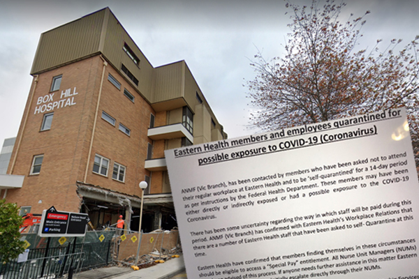 Coronavirus fears: Melbourne healthcare workers quarantined after possible exposure to virus