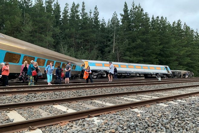 Article image for 'Strange grinding sound': Passenger describes horror moment when train derailed at Wallan