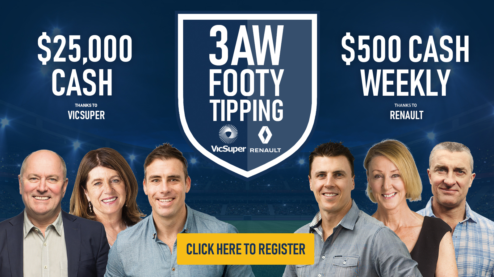 3AW Footy Tipping 2020: Enter here!