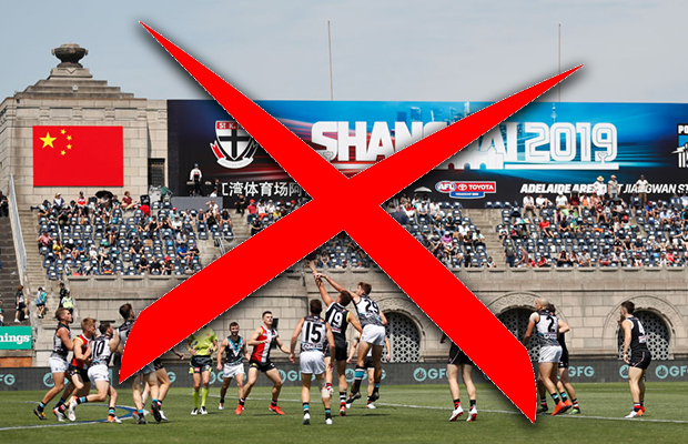 Article image for AFL officially cancels China clash due to coronavirus concerns