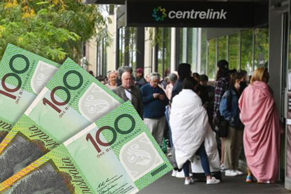 Act of kindness: Man hands out $100 notes to hundreds in Centrelink queue