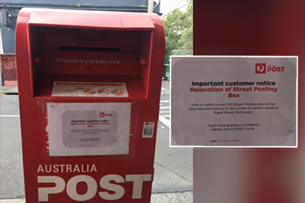 Article image for Rumour confirmed: Mailbox near safe injecting room to be moved due to 'safety' concerns
