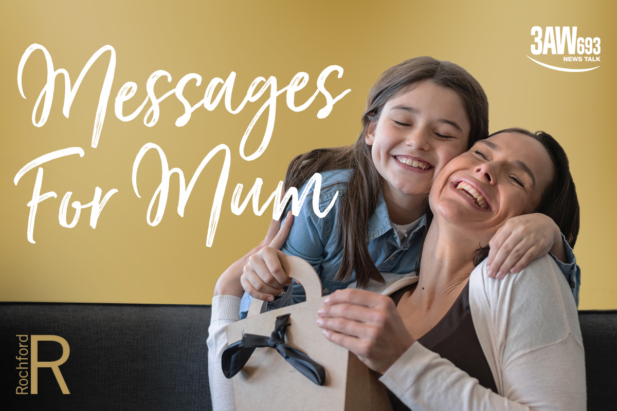 Article image for 3AW listeners share messages for their mums this Mother's Day