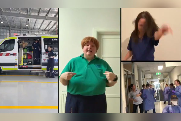Article image for Magda Szubanski's 'fun and daggy' tribute to frontline healthcare workers