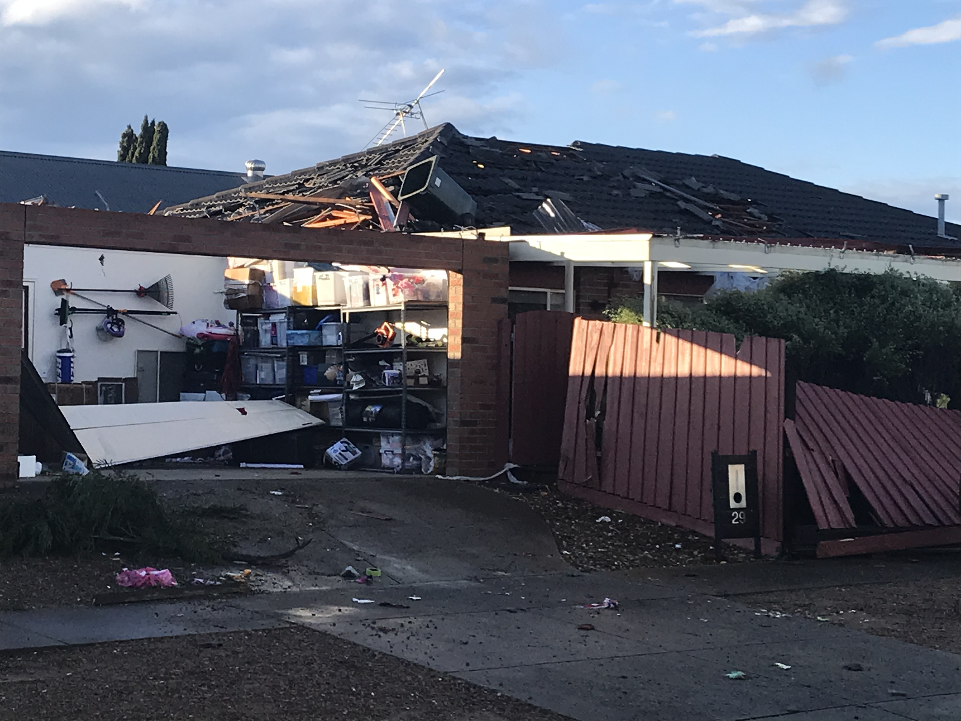 Article image for 'Like a war zone': Roofs blown off homes as Victoria lashed by three hours of wild weather