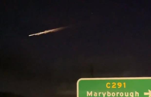 Article image for Flying object lights up night sky near Ballarat!