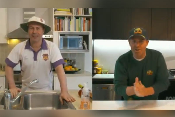 Article image for Josh Frydenberg teams up with Shane Warne for 'genuinely awful' COVID-19 video