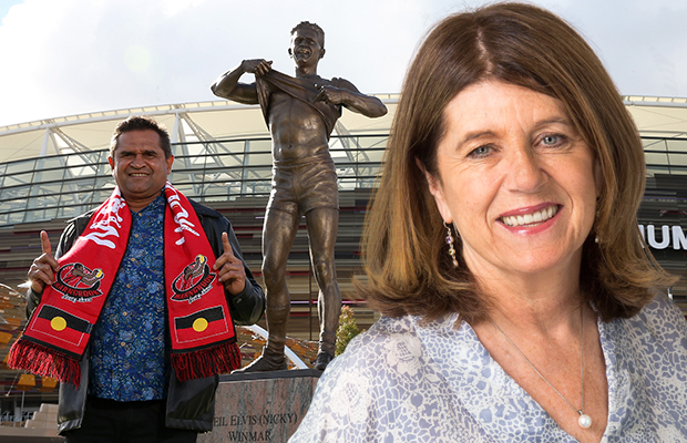 Article image for Caroline Wilson slams Sam Newman and Don Scott over comments about iconic Nicky Winmar moment