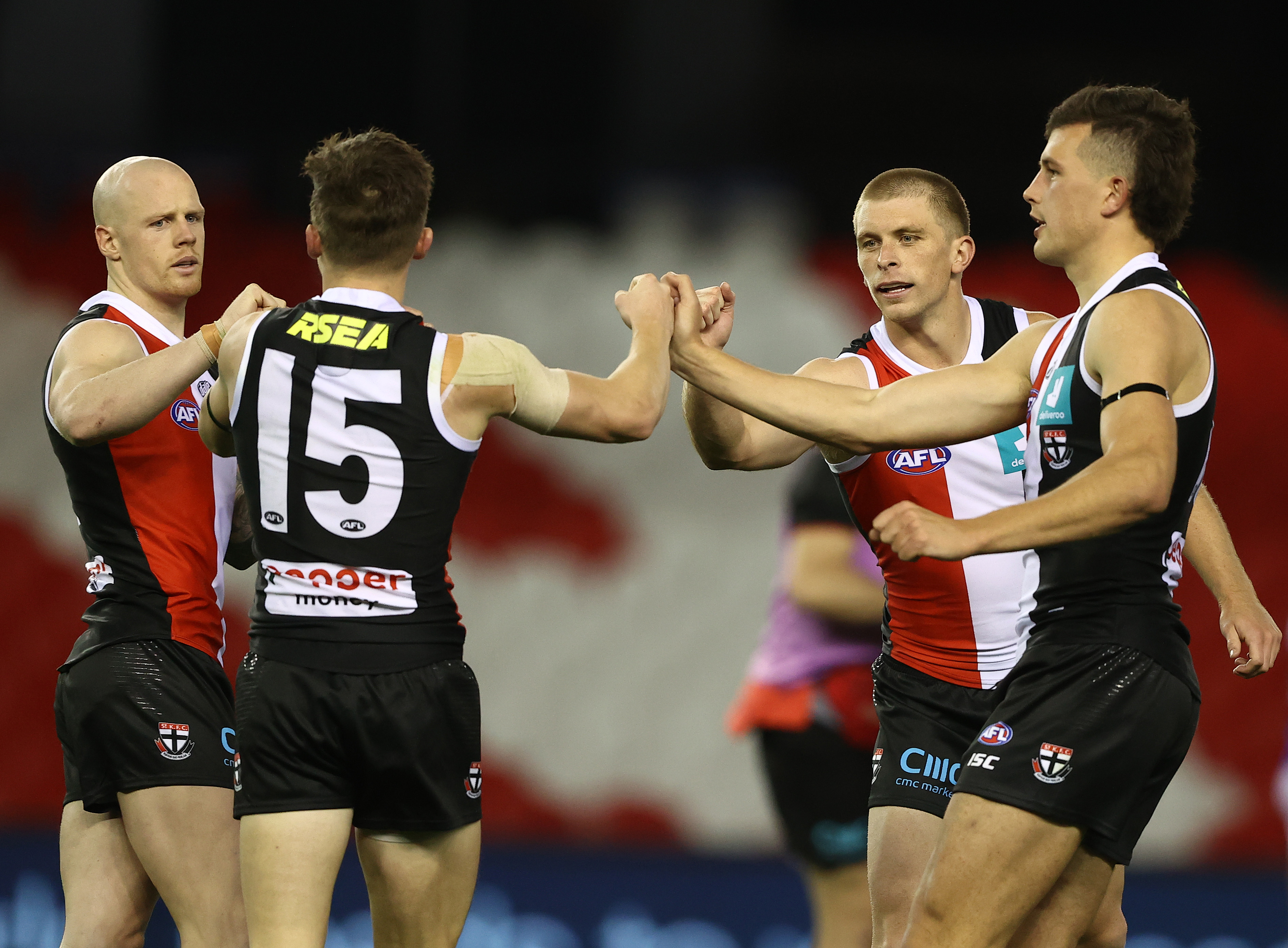 Article image for 'Spot on, Gerard': St Kilda star says half-time mention helped spur on thrilling win