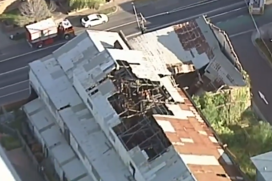 Article image for Roof of heritage listed Brunswick building collapses