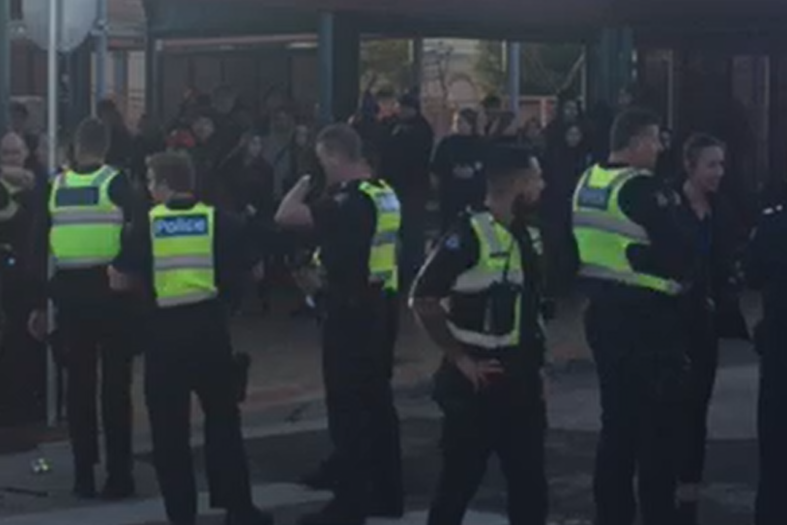 Article image for Youths brawl and 'bait the police' at Sunbury Station