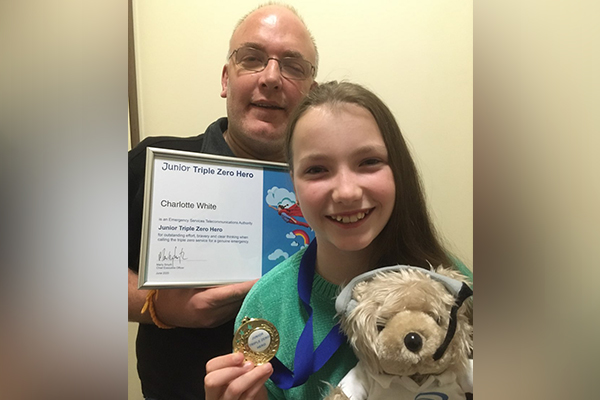 Article image for The heroic 11-year-old who saved her dad's life