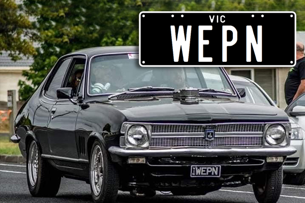 Article image for Victorian man fuming after being told his 'offensive' licence plates will be cancelled