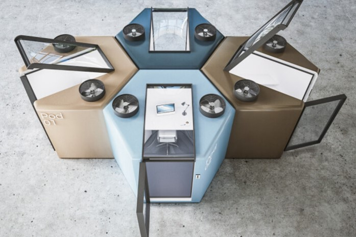 Article image for Clever quarantine work pods that could get you back in the office sooner