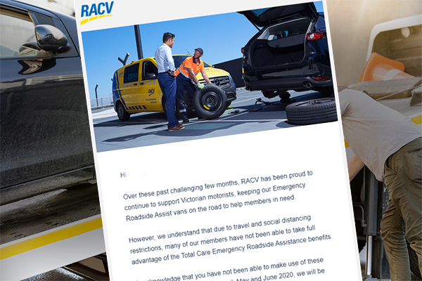 Article image for RACV roadside assistance customers to receive partial refunds due to COVID-19
