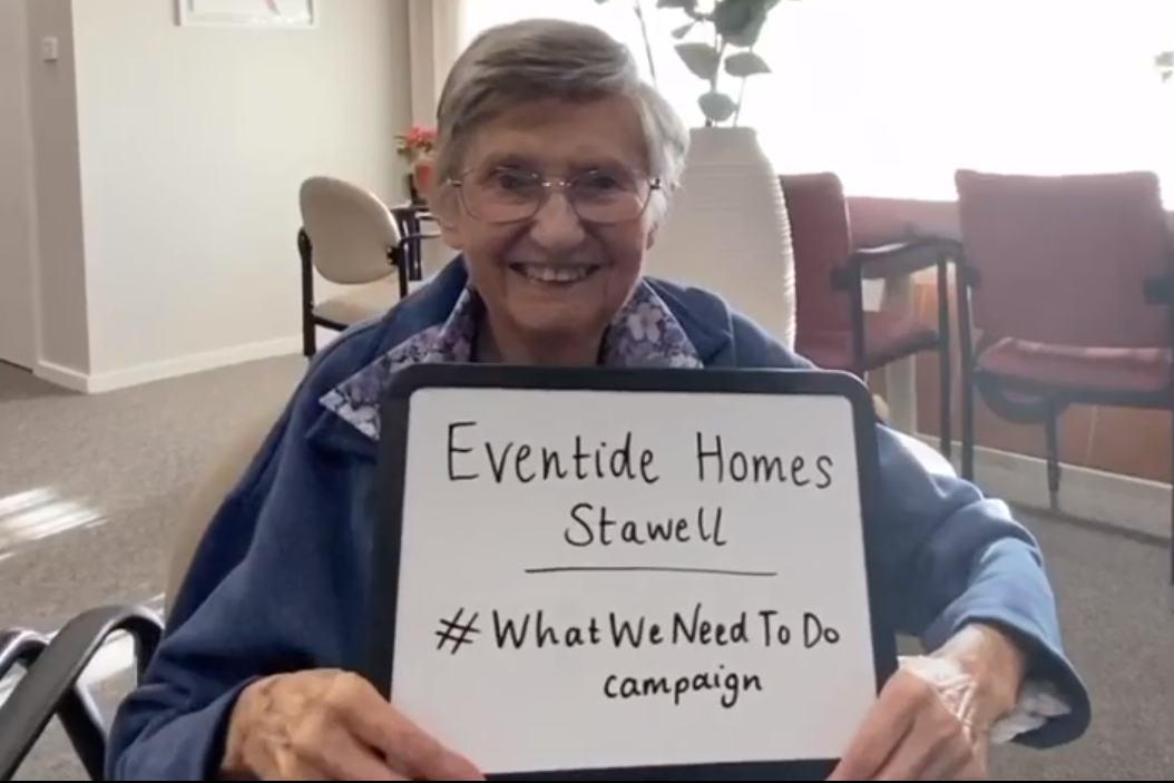 Article image for Aged care residents get on board with the #WhatWeNeedToDo campaign