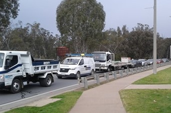 Article image for Crossing chaos: Massive queues on first day of NSW-Victoria border closure