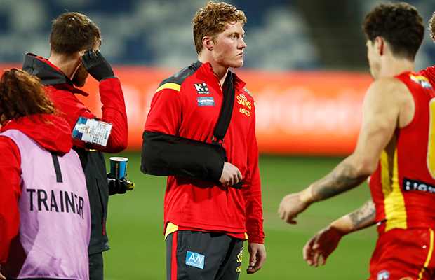 Article image for Gold Coast delivers the latest on Matt Rowell's injury