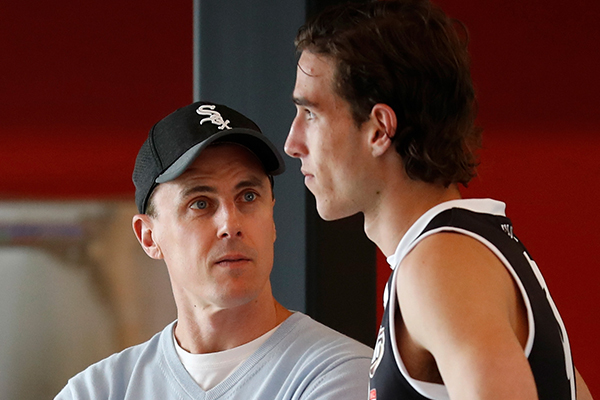 Matthew Lloyd explains why his goalkicking session with Max King fell over