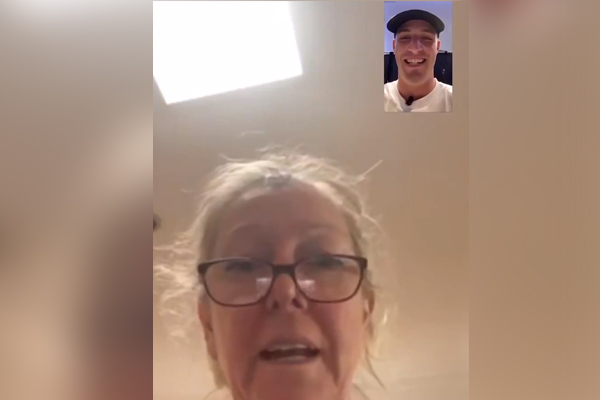 Article image for Mum's hilarious reaction as she learns of son's Collingwood debut