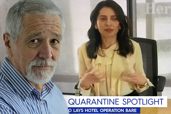 Article image for The big question Neil Mitchell has after seeing the leaked video boasting of hotel quarantine success