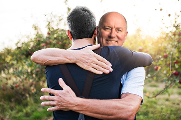 Article image for Why Ross and Russel both wanted to give their adult sons a cuddle yesterday