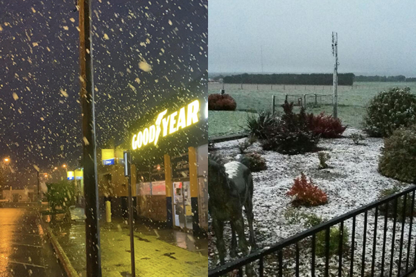 Icy blast: Parts of Victoria blanketed in snow!